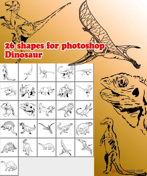 26 forms for photoshop Dinosaur