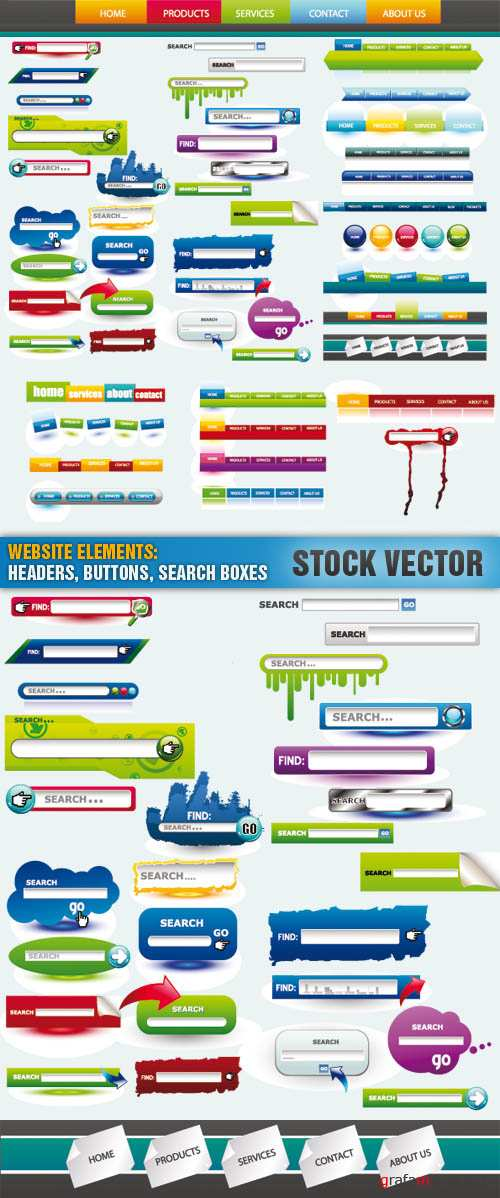 Stock Vector - Website Elements