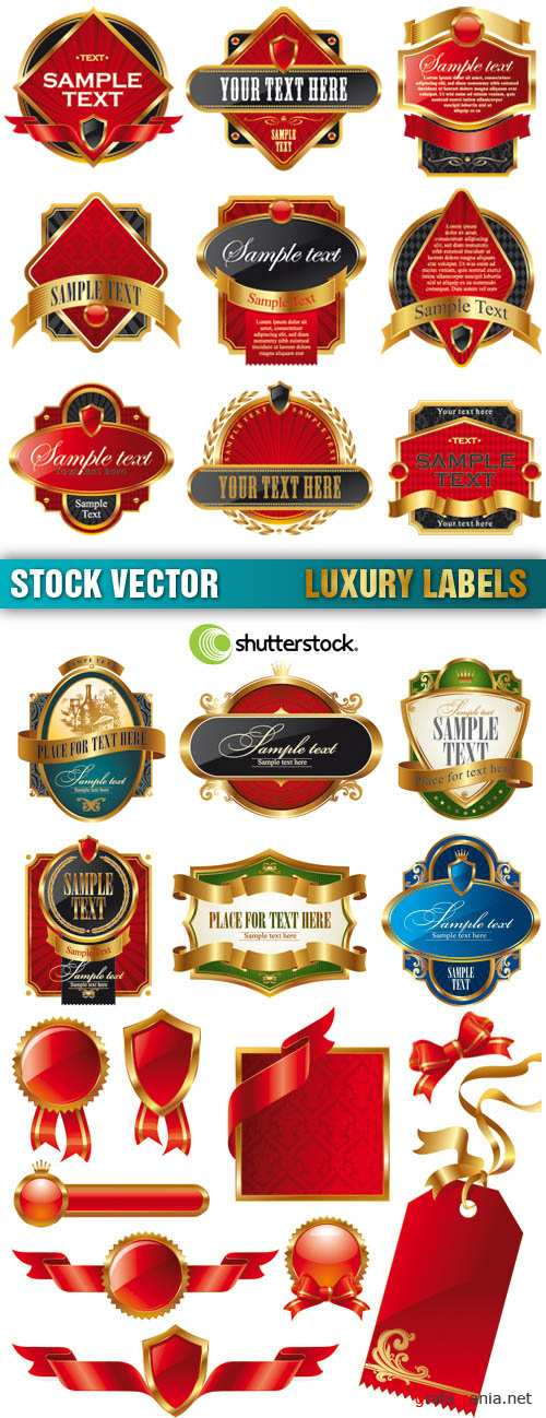 Stock Vector - Luxury Labels