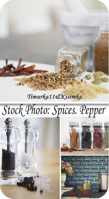 Stock Photo:  Spices. Pepper