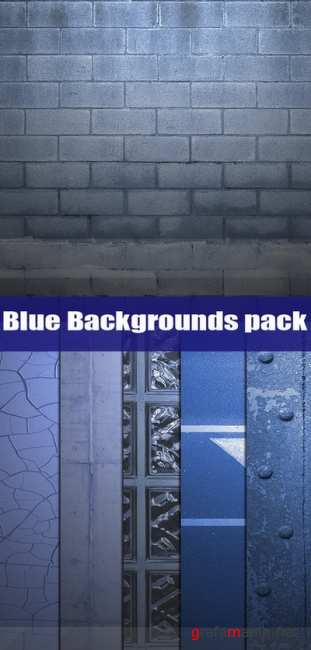 Blue backgrounds pack