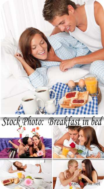 Stock Photo:  Breakfast in bed