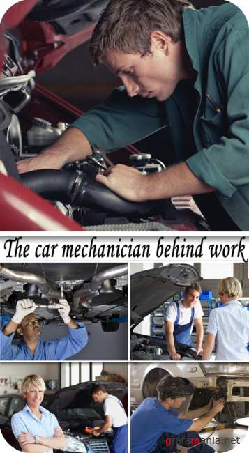 Stock Photo:  The car mechanician behind work