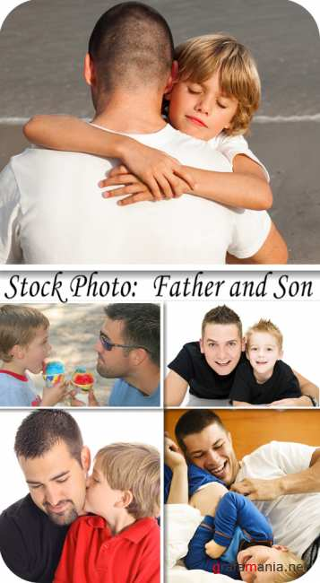 Stock Photo:  Father and son