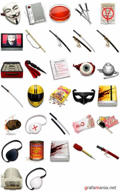 """Kill Bill"" and ""V for Vendetta"" Icons"