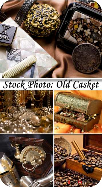 Stock Photo: Old casket