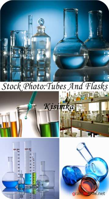 Stock Photo: Tubes and flasks