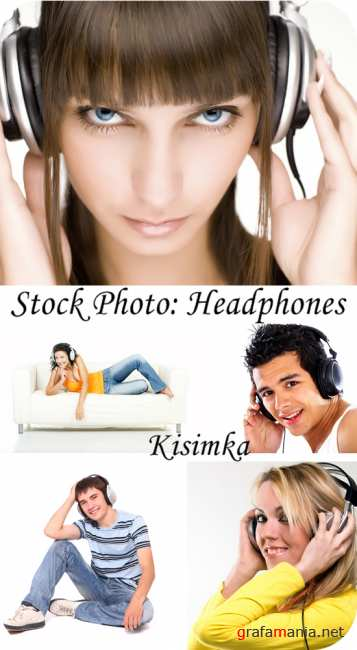Stock Photo:  Headphones
