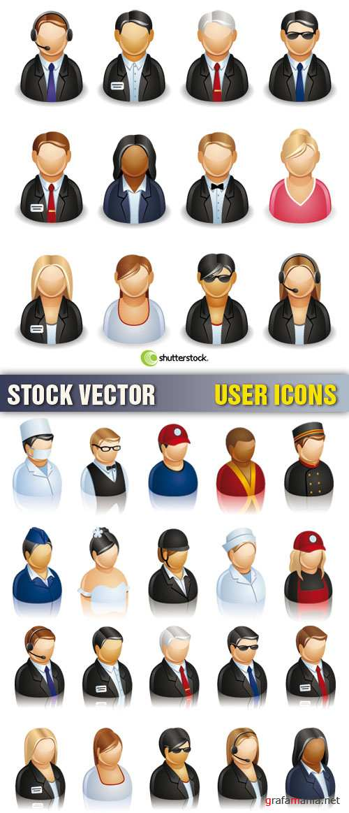 Stock Vector - User Icons