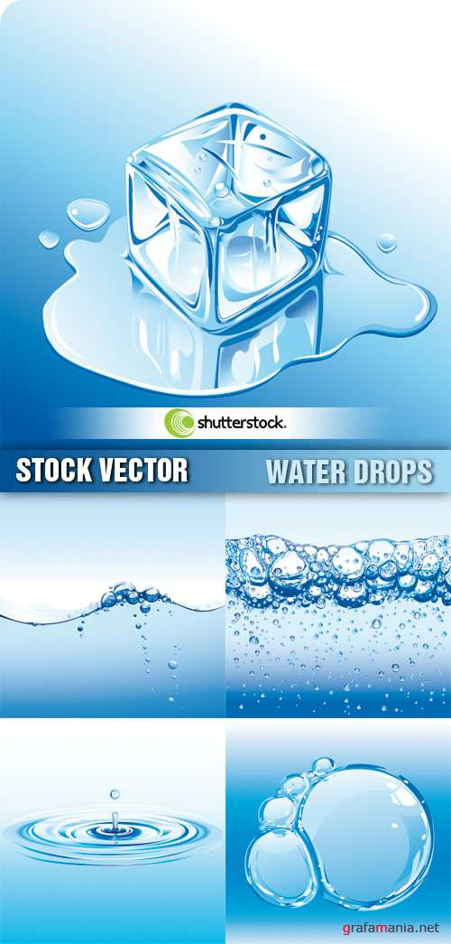 Stock Vector - Water Drops