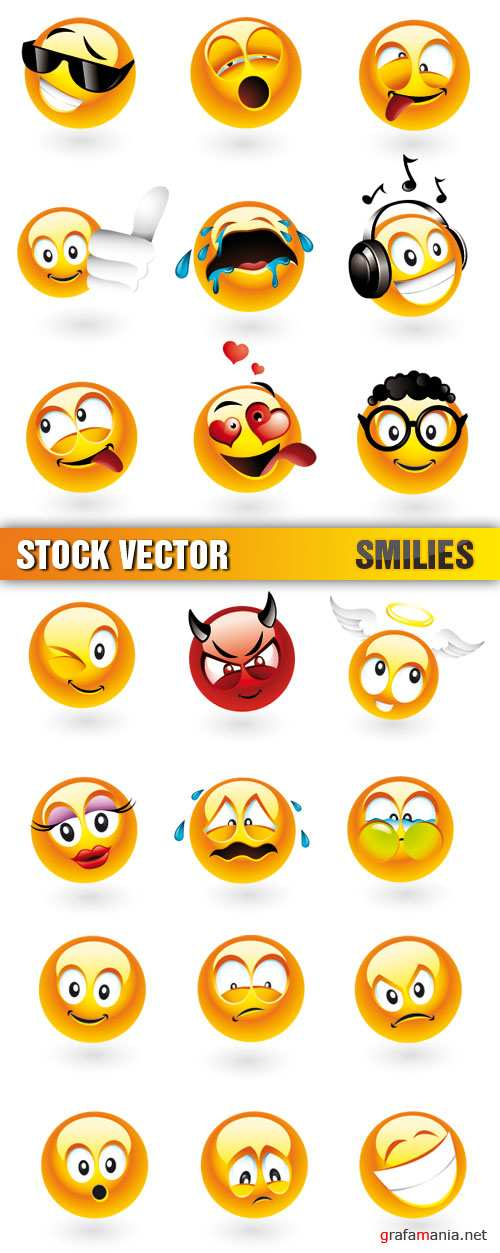 Stock Vector - Smilies