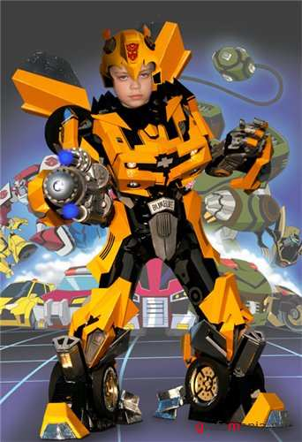 Photoshop costume children - Transformer