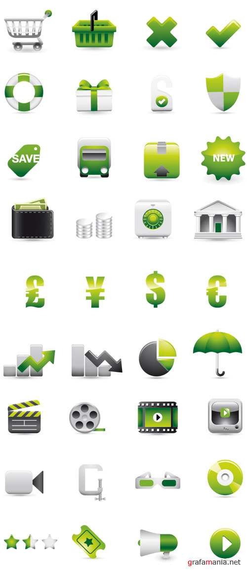 Stock Vector - Web Icons
