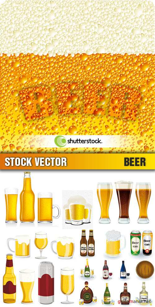 Stock Vector - Beer