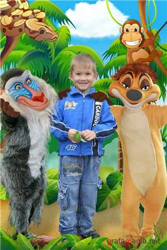 Photoshop costume children - Timon