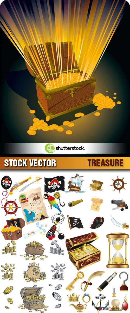 Stock Vector - Treasure | Сокровища