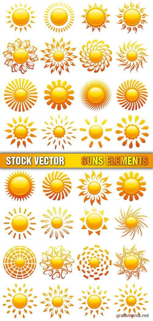 Stock Vector - Suns Elements