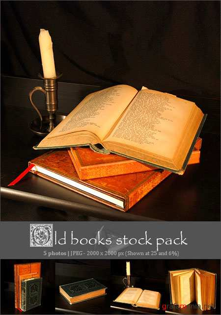 Old Books Stock Pack