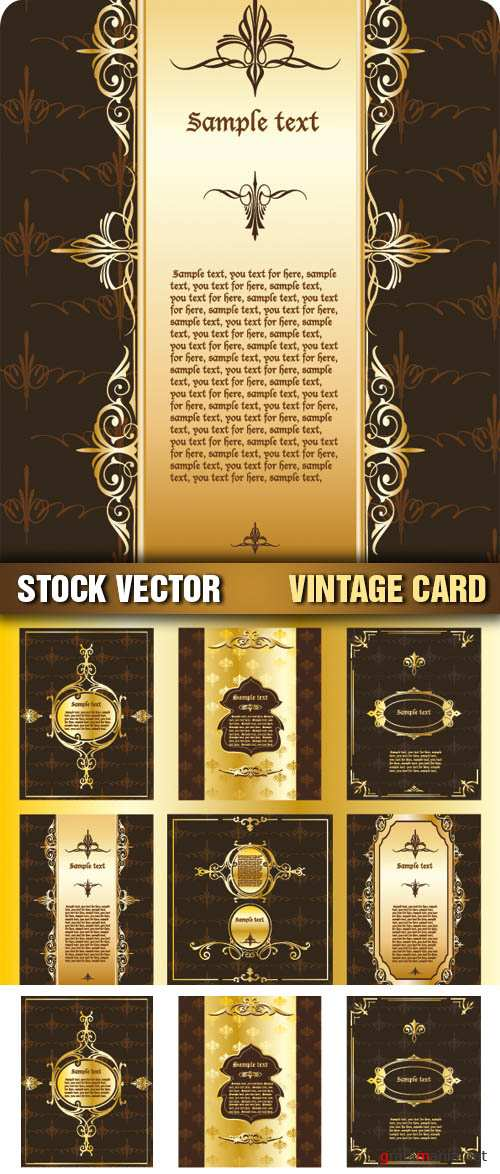 Stock Vector - Vintage Card