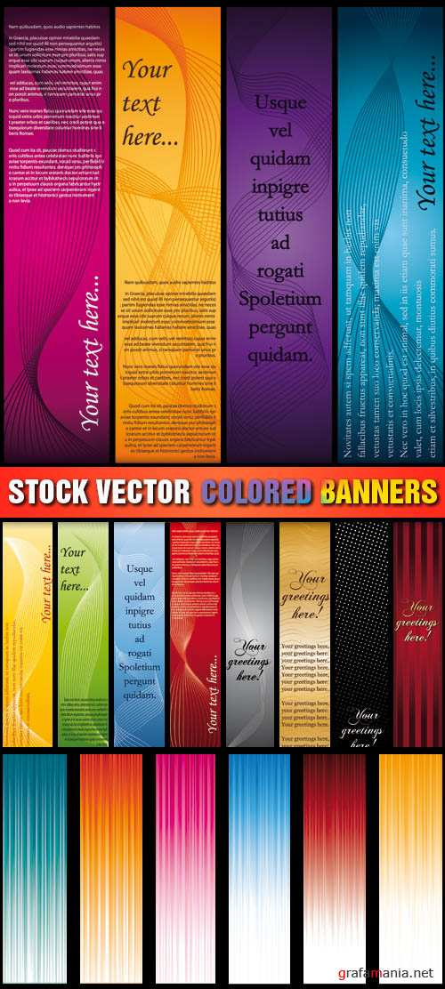 Stock Vector - Colored Banners