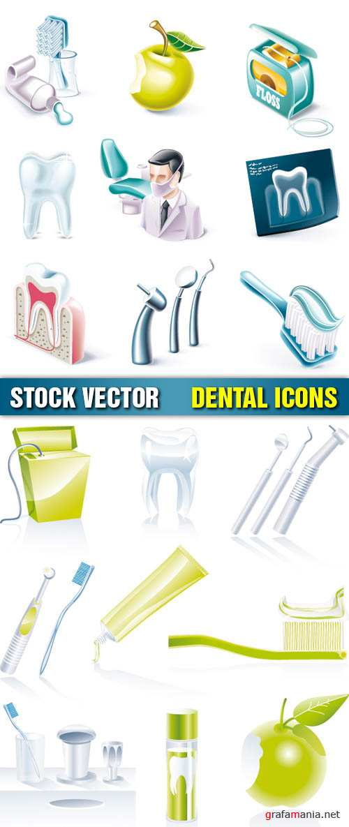 Stock Vector - Dental Icons