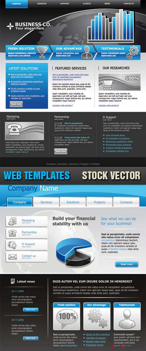 Stock Vector - Web Templates