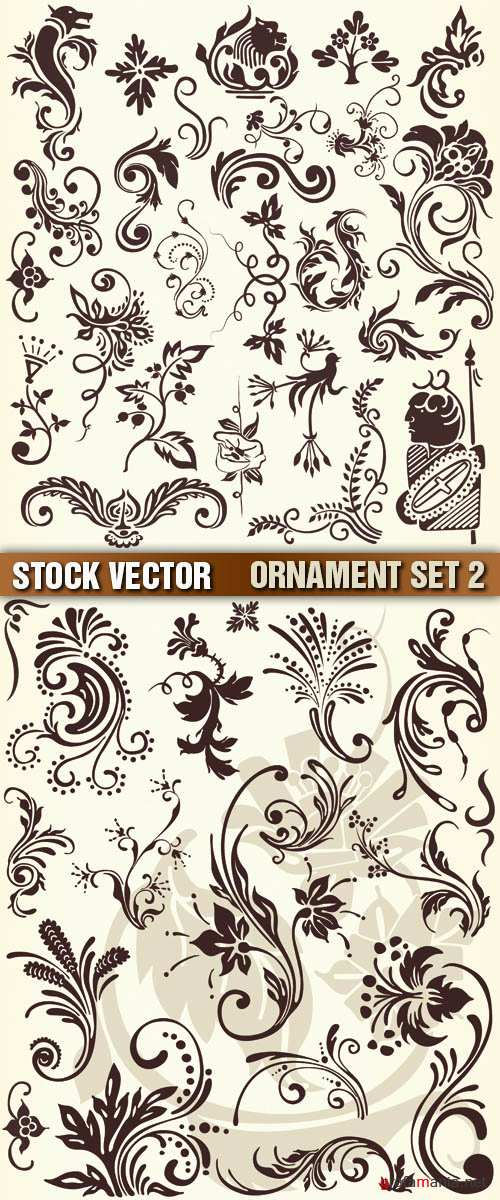 Stock Vector - Ornament Set 2