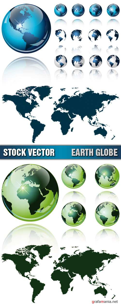 Stock Vector - Earth Globe