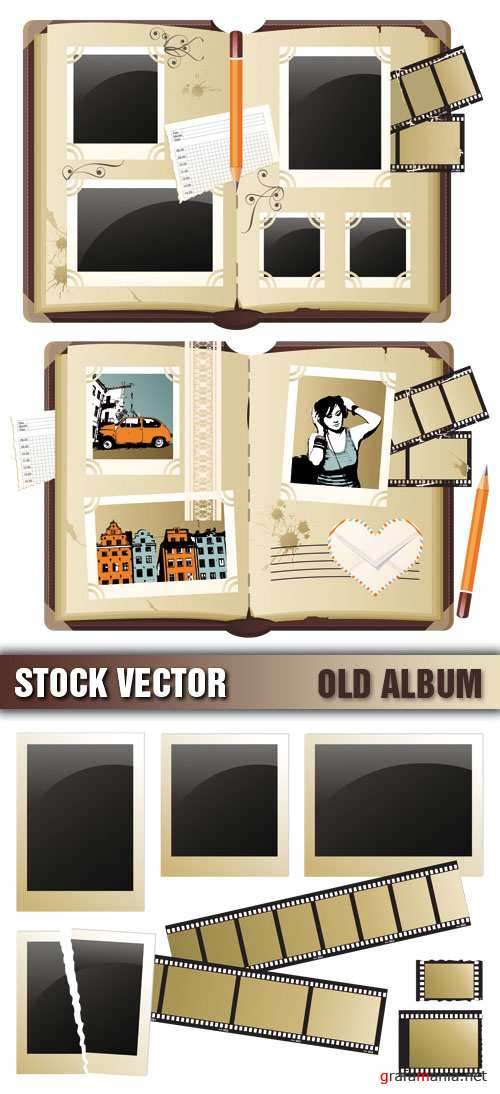 Stock Vector - Old Album