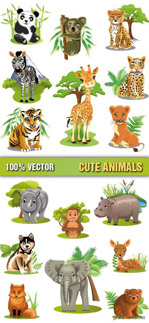 Stock Vector - Cute Animals