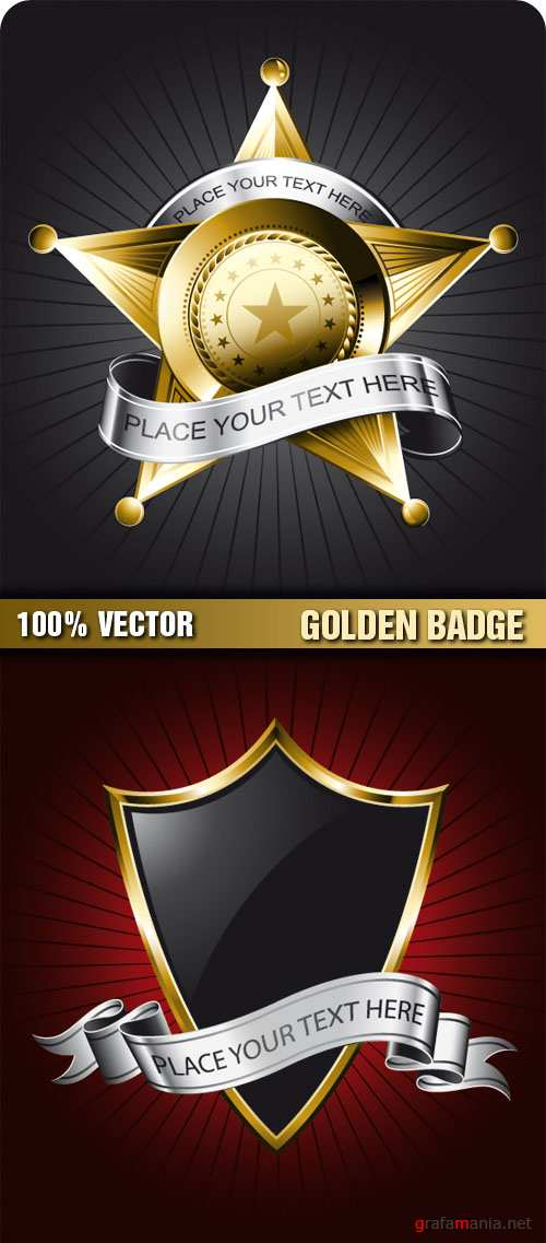 Stock Vector - Golden Badge