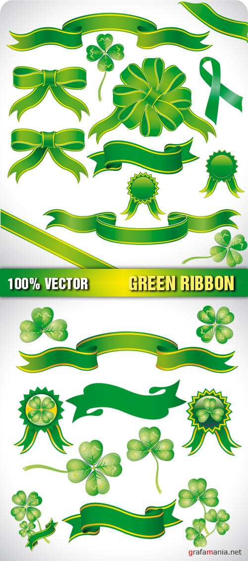 Stock Vector - Green Ribbon