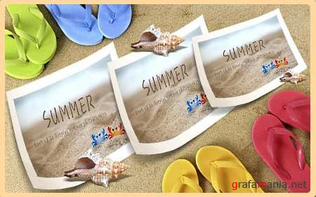 Summer Memory PSD Template