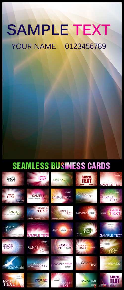 Stock Vector - Seamless Business Cards
