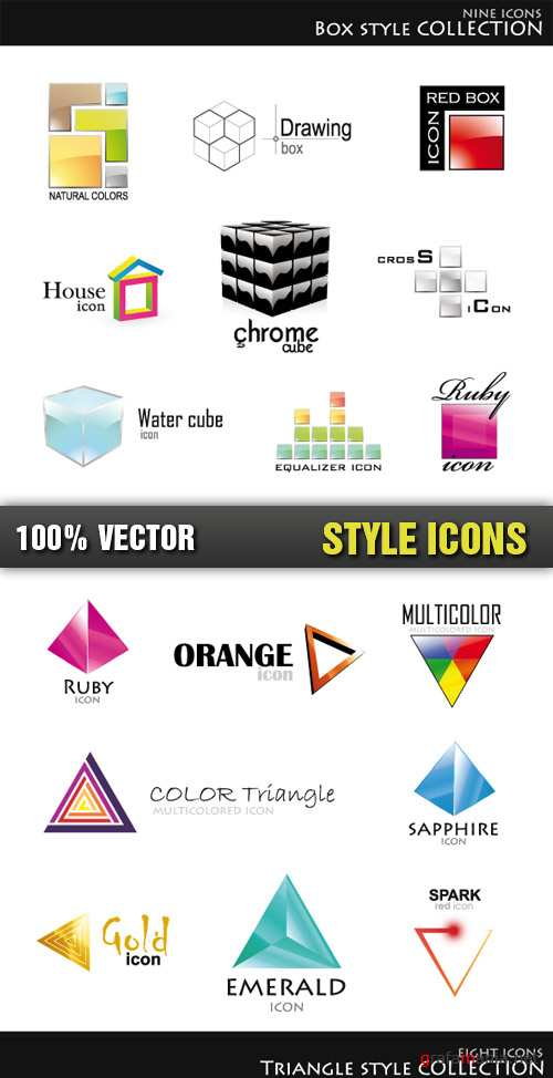 Stock Vector - Style Icons