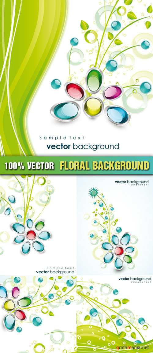 Stock Vector - Floral Background