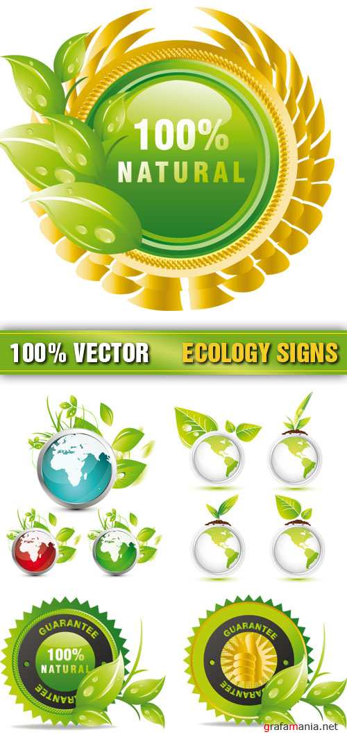 Stock Vector - Ecology Signs
