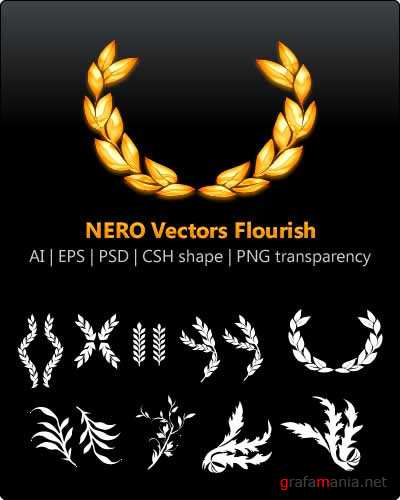"Элементы рамочек ""NERO Vectors Flourish"""