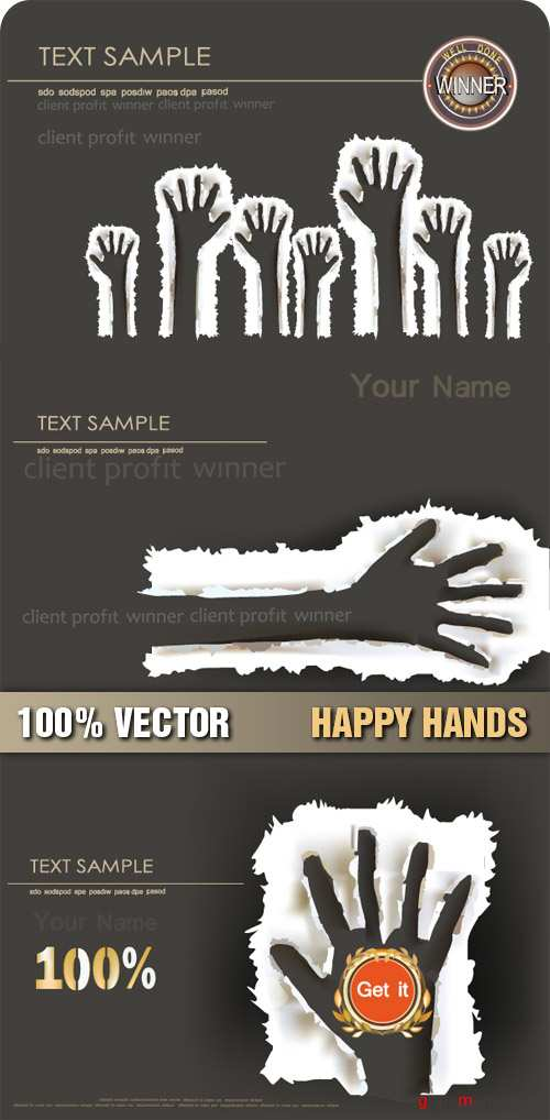 Stock Vector - Happy Hands