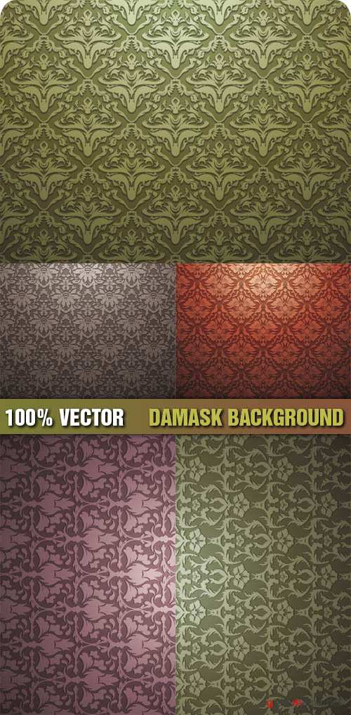 Stock Vector - Damask Background