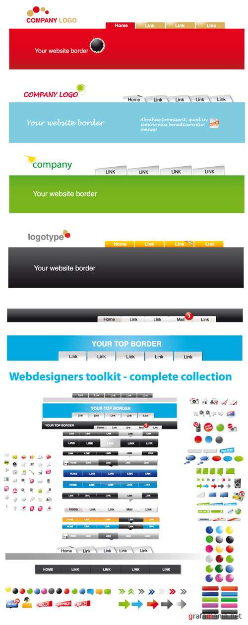 Stock Vector - Webdesigners Toolkit