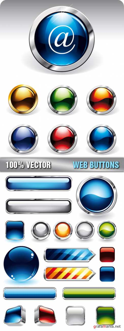 Stock Vector - Web Buttons