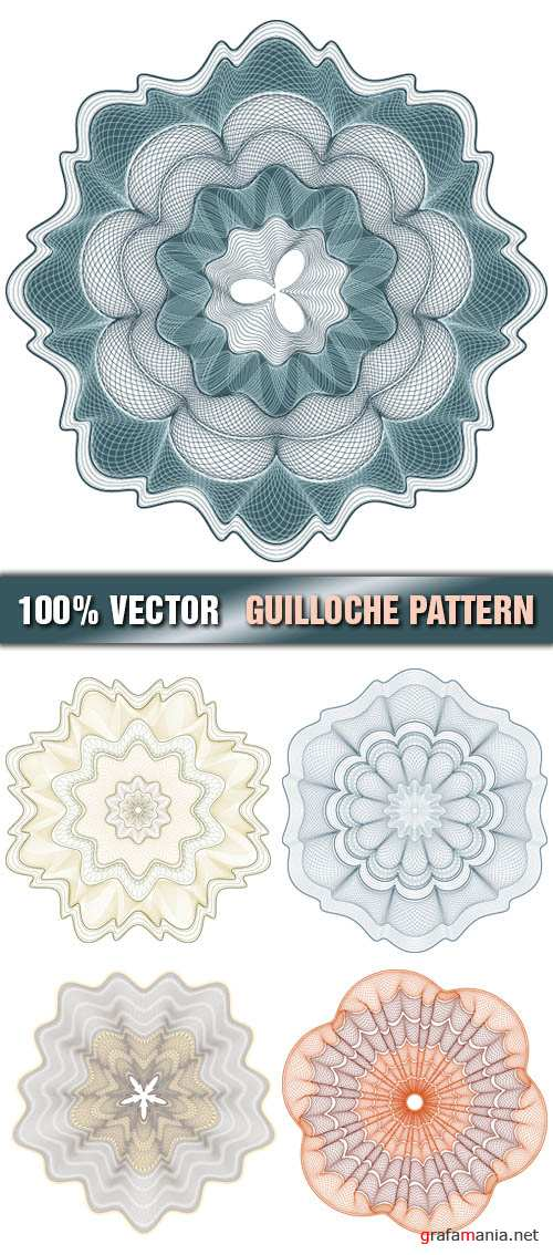 Stock Vector - Guilloche Pattern