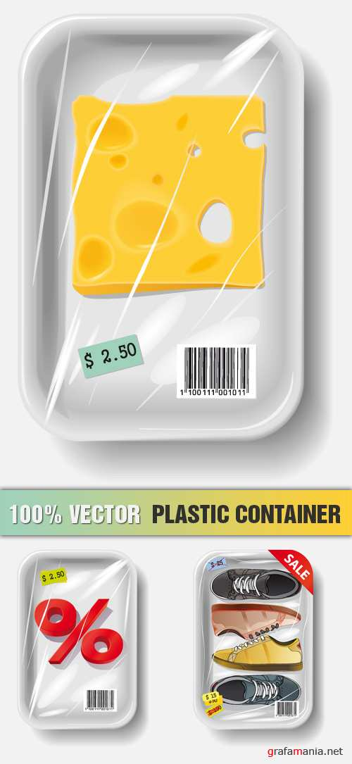 Stock Vector - Plastic Container