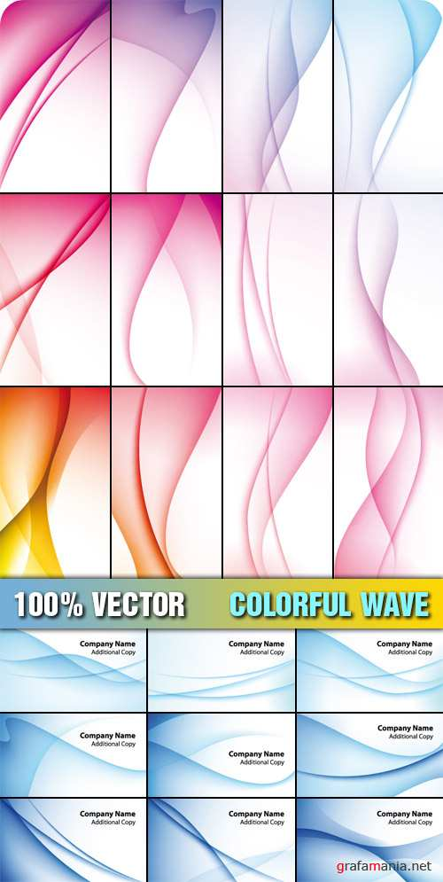 Stock Vector - Colorful Wave