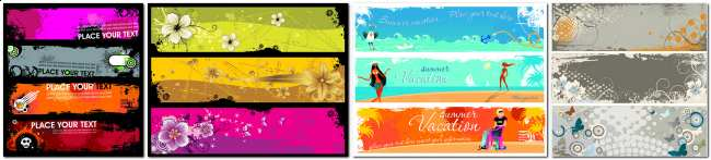 ��������� ������� (vector banners)