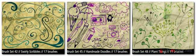 135 Assorted Brushes
