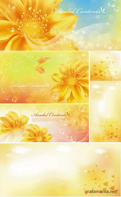 Yellow floral backgrounds