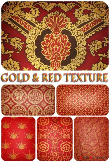 Gold & Red texture