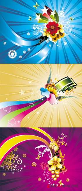 Color Backgrounds Vector